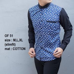 Kemeja Batik Pria Slim Fit Modern OF51 - Baju Batik Pria Slim Fit