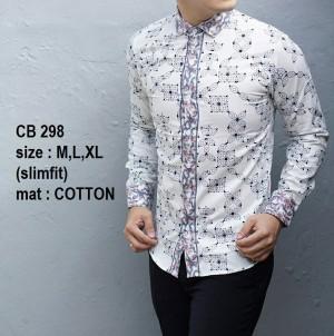 Baju Kemeja Batik Pria Slim Fit Modern CB298