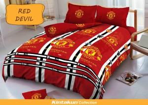 Bedcover D'luxe Kintakun ukuran 180 x 200 – Red Devil
