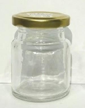 Botol Toples Beling Jar 50ml (kaca) : Bulat & Silinder, penutup Seng