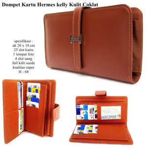 Dompet wanita kartu H-kelly card soft super-coklat