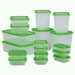 tupperware, toples tupperware, botol tupperware, tupperware set
