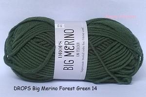 harga DROPS Big Merino hijau tua - benang rajut impor / import (wool/wol) Tokopedia.com