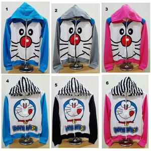 Jaket Hoodie Doraemon Cute Dan Salur