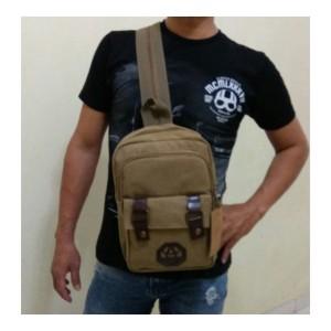 Tas Ransel Kanvas Pria / 2 Way Backpack / Slingbag Fashion RS801
