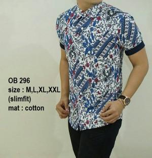 Baju Kemeja Batik Pria Slim Fit Modern OB296