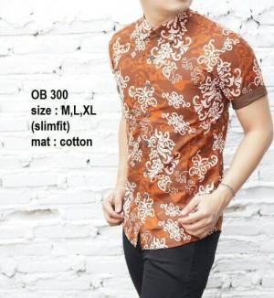 Baju Batik Kemeja Pria Slim Fit OB300