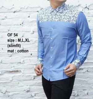 Baju Batik Kemeja Pria Slim Fit Modern OF54