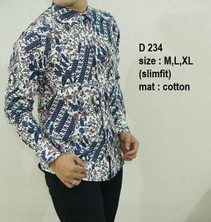 Kemeja Batik Slim Fit Pria Modern D234