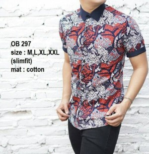 Baju Kemeja Batik Pria Slim Fit Modern OB297