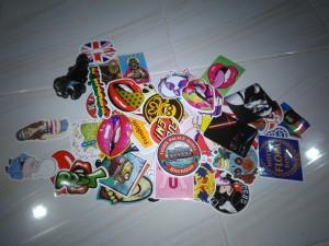 Sticker Bomb (laptop,gitar,helm,sepeda dll) @50pcs