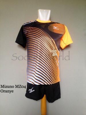 Baju Kaos Olahraga Seragam Volley Setelan Voli Mizuno MZ04 Oranye