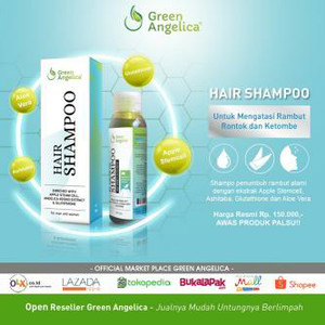 Green Angelica Shampo Penyubur Rambut Rontok