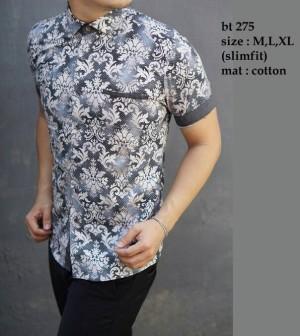 Baju Batik Kemeja Pria Slim Fit Modern BT275