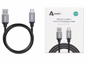 AUKEY CABLE KABEL USB TYPE-C TO USB 3.0 with Braided Nylon CB-CD2