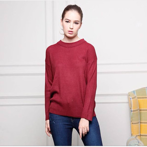 loose sweater maroon