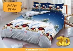Sprei D'luxe Kintakun ukuran 180 x 200 – Snow Bear