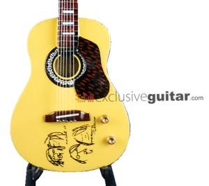 Miniatur Gitar Acoustic Gibson J-160E John Lennon