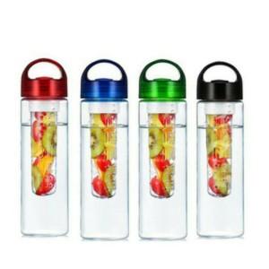 Tritan infuse water (pakai karet)/botol minum+tempat buah