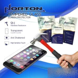 Screen Guard Anti Gores TEMPERED GLASS NORTON HP IPHONE 4 5 6 6+ 6PLUS