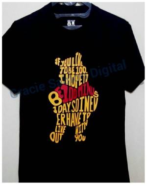 Baju Kaos Tshirt WINNIE THE POOH