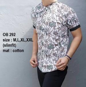 Baju Kemeja Batik Pria Slim Fit Modern OB292