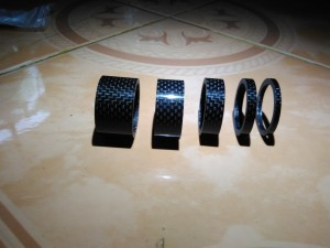 Ring Spacer Sepeda Fiber Carbon (5pcs)