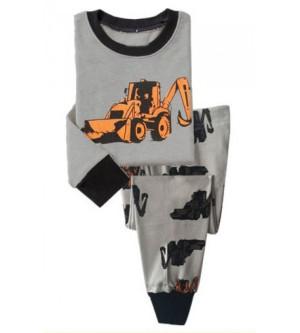 Baju tidur anak laki-laki/Piyama GAP Hk Boy Buldozer Grey