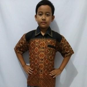 Jual kemeja batik anak laki baju batik anak cowok pekalongan B17