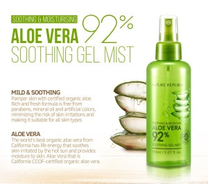 Image result for Nature Republic Aloe Vera Soothing Gel Mist Aloevera 150ml
