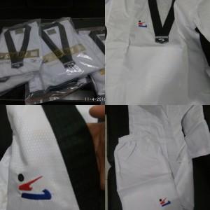 seragam taekwondo dobok kerah hitam baju Sendy Diamond Two