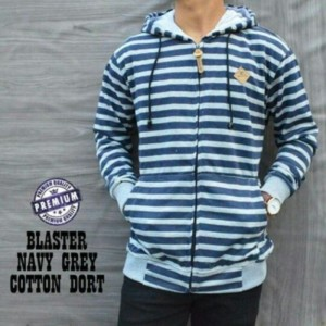 Jaket Blaster Navy Grey Cotton Taiwan Premium