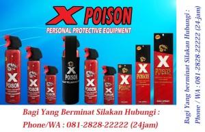 Jual Gas Air Mata merek X-Poison (Alat Perlindungan Diri) Isi : 100ml