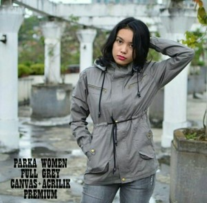 jaket parka ladies baby canvas abu