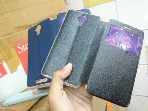Leather Flip Case Andromax R