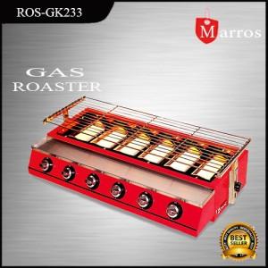 Pemanggang Tanpa Asap 6 Tungku Roaster Gas Fomac ros-gk233