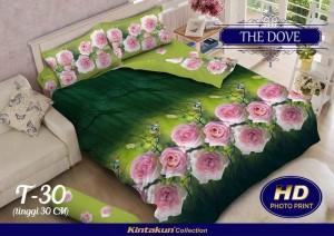 Bedcover Kintakun Luxury 3D ukuran 180 x 200 motif The Dove