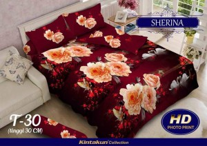 Bedcover Kintakun Luxury 3D ukuran 180 x 200 motif Sherina