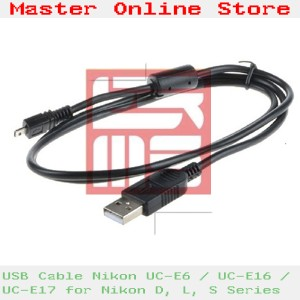USB Cable/ Kabel Data UC-E6 for Nikon Coolpix P & S Series Serta D5000