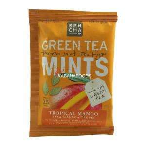 Permen Mint Teh Hijau Bebas Gula Sencha Green Tea Mints Tropical Mango
