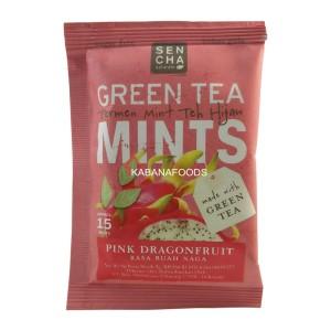 Permen Mint Teh Hijau Bebas Gula Sencha Green Tea Mints Dragonfruit 9g