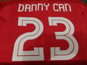 Nama + nomor punggung jersey bola / futsal font LIVERPOOL UEFA LEAGUE