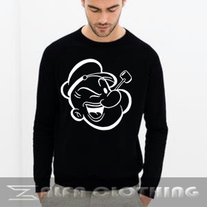 Sweater Popaye Cartoon - Zalfa Clothing