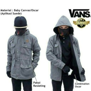 JAKET PARKA CANVAS PREMIUM GREY