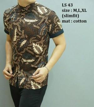 Baju Pria Batik Kemeja Modern Edisi Imlek Lengan Pendek LS-43