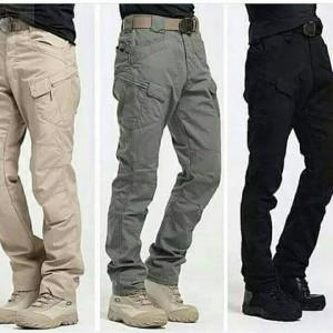 Celana Tactical Grey Abu PDL Cargo Police Army