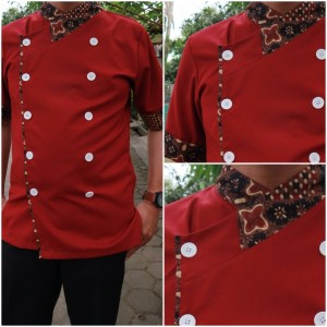 Baju Chef exclusive +Batik