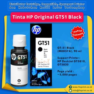 Tinta HP GT51 GT52 Botol Black Colour Refill Original Printer