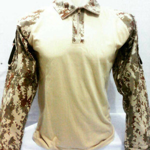 baju bdu loreng digital cream
