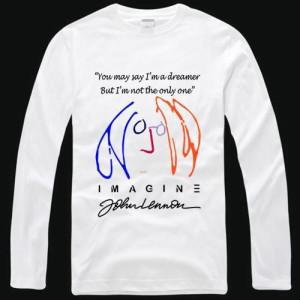 Kaos/T-Shirt LENGAN PANJANG THE BEATLES JOHN LENNON IMAGINE High Qua